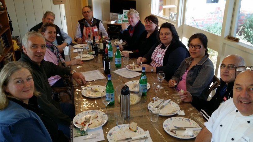 Shared lunch after the work My Green Garden preserving workshops