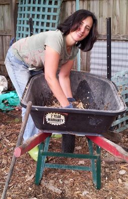 Collecting compost